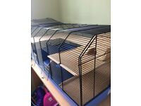 Deluxe hamster cage,excellent condition,lots of accessories.Spacious for explore and play