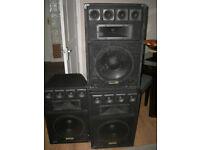 Speakers full range 200watts max 400w EKHO