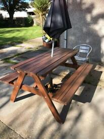 Garden Table / Bench Set