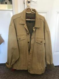 Vintage Denim Jacket Sand Camel