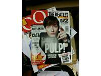 Large Collection of Late 80s 90s Britpop era Q Music Magazines. SDHC