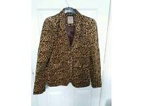 Animal print Jacket size M