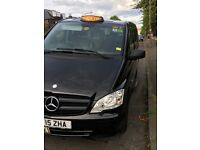 black cab taxi driver requierd, dayshift or nightshift, city cabs, new mercedes m8