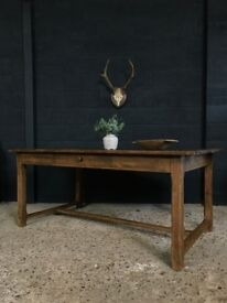 Antique French French Country Farmhouse Refectory Table