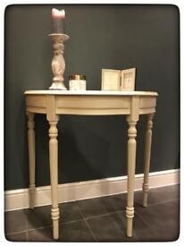 Annie Sloan Hand Painted Shabby Chic Console/Hall Table