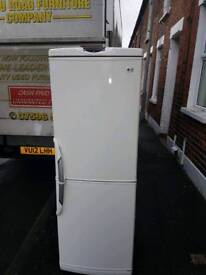LG cream and white fidge freezer