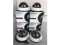 4x700tvl Internal Dome CCTV Camera 3.6mm Lens Night Vision