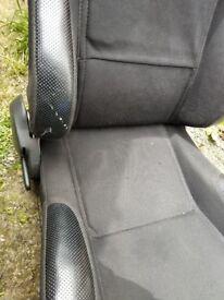 Vauxhall Astra bucket seats on MK4 rails