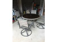GARDEN TABLE AND FOUR CHAIR SET