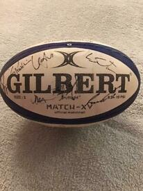 GLASGOW WARRIORS SIGNED SHIRTS,BALL AND PHOTO