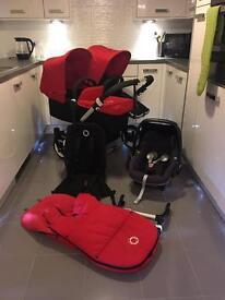 Bugaboo donkey v1.1 car seat and Footmuff