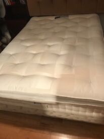 M&S AUTOGRAPH DOUBLE BED DIVAN BASE AND ANTI-ALLERGY POCKET SPRUNG MATTRESS INC TOPPER AS NEW