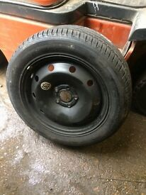 Renault Laguna wheel and new tyre
