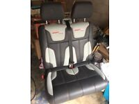 TRANSPORTER SPORTLINE PASSENGER DOUBLE HEATED LEATHER SEAT T5 T5.1 RARE VW