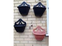 Plastic wall planters
