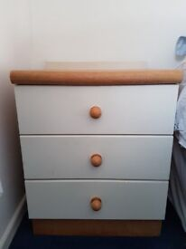 Solid Wood Bedside Units x 2