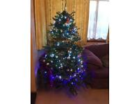 Green artificial Christmas tree approx 6 ft