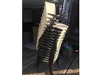 60 X plastic stacking stackable event chairs with armrests. Delivery