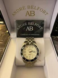 Andre Belfort New Sous les mers steel white Automatic Wristwatch