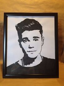 Hand Painted Justin Beiber