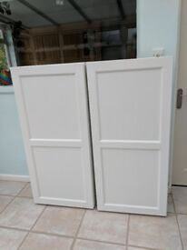Two Ikea 'besta' cabinets in white - ideal storage for books/ DVDs - £30 each (£60 in total)