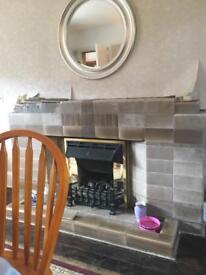 Art Deco fireplace tiles
