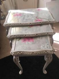 Nest of shabby chic tables