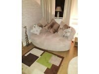 DFS Three seater sofa and cuddle sofa