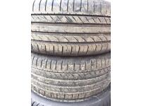 2x 205/40R17 Continental Tyres