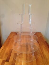 7 Tier Clear Acrylic Cupcake Stand - £20 each