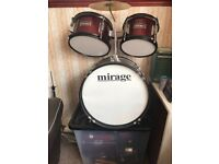 Children's 5 Piece Drum Kit, Hardly Used, Perfect Condition, Suit 5 years + £50