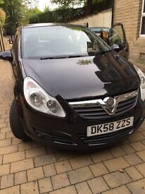 58 Plate Vauxhall Corsa Auto Black *PRICED TO SELL*
