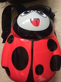 Kids hardshell backpack ladybird excellent condition