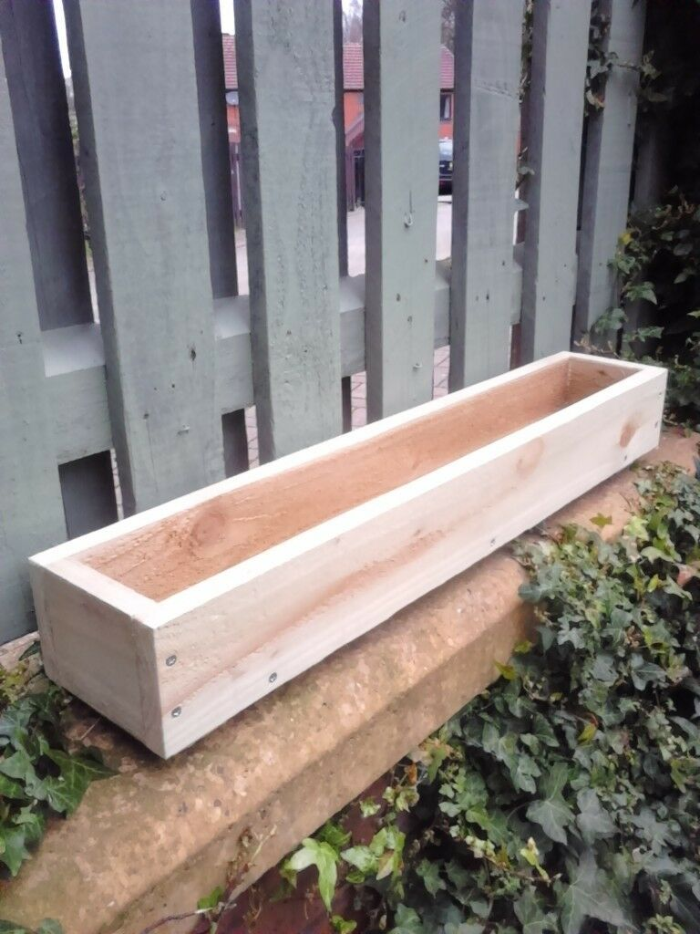 New Flower Planters Treated Wooden Window Box