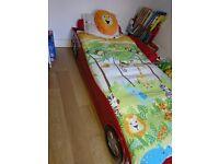 Kids Car bed frame + immaculate mattress