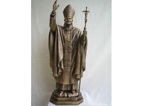 Bronze Statue St Pope John Paul II