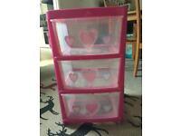 Girls storage unit