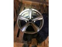 "1 x 17"" Tora alloy wheel"