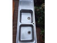 Double Bowl Kitchen Sink - Good Condition