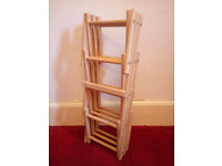 Wooden collapsible wine or bottle rack