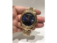 Rolex Daydate 40 18k Yellow Gold Blue Dial 2017
