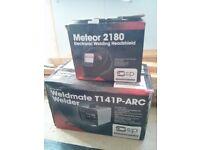 SIP 05741 Weldmate T141P ARC Welder + Meteor 2180 Electronic Headshield - LIKE NEW!! USED ONCE.