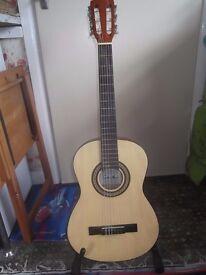 Classical guitar 3/4 size Santos y Mayor GSM 5/3 with TGI gigbag