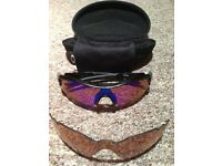 Oakley Radar Sunglasses w Blue Iridium and GR30 Vented Lenses