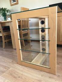 Hi-Fi Unit - Beech / Glass