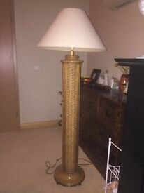 Tall free standing lamp