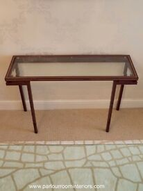 FRENCH CONSOLE TABLE C.1970 BY DESIGNER PIERRE VANDEL
