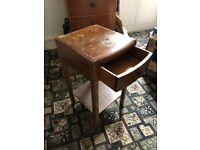 Vintage wooden bedside table