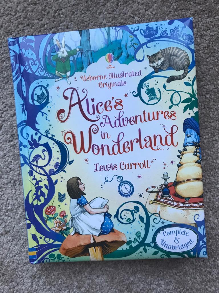 Usborne Alice's Adventures in Wonderland illustrated book brand new