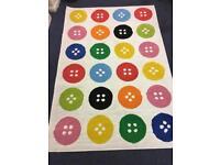 Ikea TASTRUP multicolor button rug 4'4 * 6'5